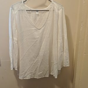 Off white gold sparkle 3/4 Sleeve Blouse